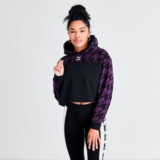 Puma Women's Trend Houndstooth Pullover Hoodie