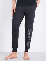 Calvin Klein Logo-print marl jersey jogging bottoms