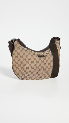 What Goes Around Comes Around Gucci Brown Round Messenger Bag