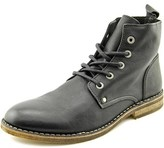 Rogue Gregory Men Round Toe Leather Black Boot.
