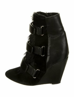 Isabel Marant Suede Lace-Up Boots Black