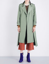 Toga Ladies Khaki Round Button fastening Oversized Twill Coat