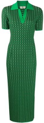 Fendi Checkered Short-Sleeve Dress