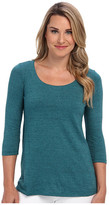 Miraclebody Jeans Bella Three-Quarter Sleeve Top w/ Body-Shaping Inner Shell
