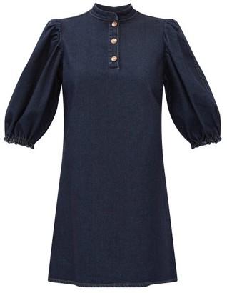 See by Chloe Puff-sleeve Denim Dress - Denim