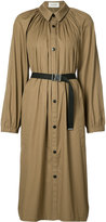 Lemaire pleated coat - women - Cotton/Polyurethane Resin - 34