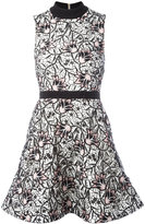 Self-Portrait floral layered flared dress - women - Polyester - 12