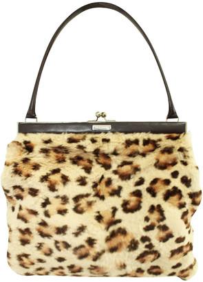 Dolce & Gabbana Animal Print Rabbit Fur Bag