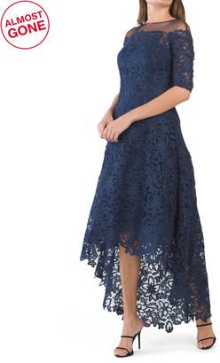 Hi-lo Metallic Lace Dress