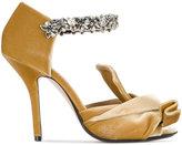 No.21 Crystal embellished velvet sandals
