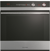 Fisher & Paykel OB60SC9DEPX1 Built-In Single Electric Oven, Stainless Steel / Black
