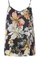 Dorothy Perkins Womens **Tall Black Floral Print Camisole Top- Black