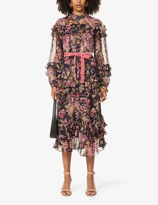 Zimmermann Lucky floral-print tiered silk midi dress