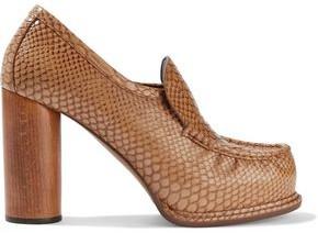 Stella McCartney Faux Snake-effect Leather Pumps