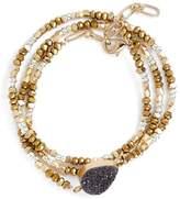 Treasure & Bond Drusy Triple Wrap Bracelet