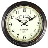 """AdecoTrading 14.6"""" Round """"Victoria Station"""" Wall Hanging Clock"""