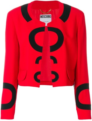 Moschino Pre-Owned Collarless Open Jacket