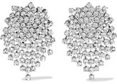 Kenneth Jay Lane Silver-tone Crystal Earrings - One size