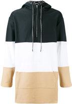 Les Benjamins striped hooded sweatshirt