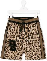 Dolce & Gabbana leopard printed drawstring shorts