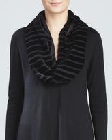 Eileen Fisher Washable Velvet Infinity Scarf, Black