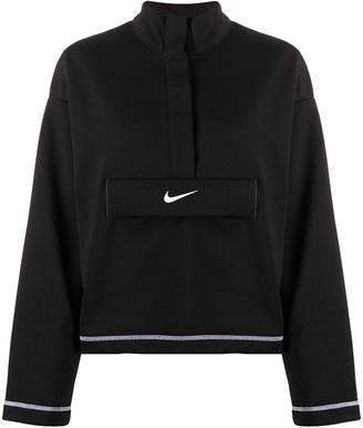 Nike Logo Print High Neck Jumper
