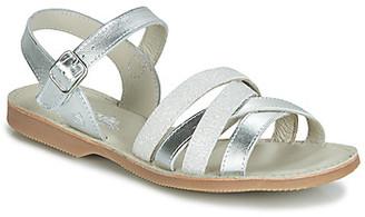 Citrouille et Compagnie JAGUINOIX girls's Sandals in Grey