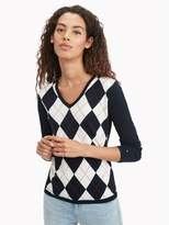 Tommy Hilfiger Essential Argyle V-Neck Sweater