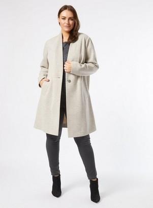 Dorothy Perkins Womens Dp Curve Oatmeal High Neck Coat