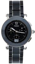 Fendi Black Ceramic Chrono Timepiece, 38mm