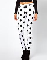 Motel Jordan Jeans In Polka Dot Print