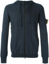 Stone Island zipped hoodie - men - Cotton/Polyamide - L
