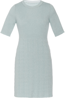 Marc Jacobs Ribbed-Knit Crewneck Mini Dress