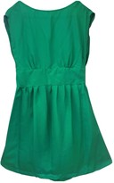 Sessun Green Silk Dress for Women