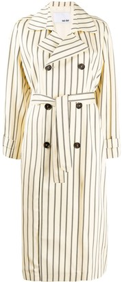 Each X Other Retro striped trench coat