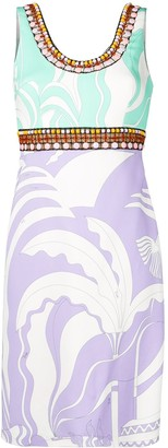 Emilio Pucci La Villa Print Bead-Embroidered Dress