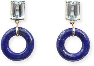 BONDEYE JEWELRY Emerald-Cut Munchkin Blueberry Glazed Donut Earrings