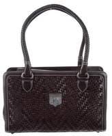 Kieselstein-Cord Woven Leather Satchel