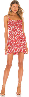 Free People Don't Dare Mixed Print Mini Dress