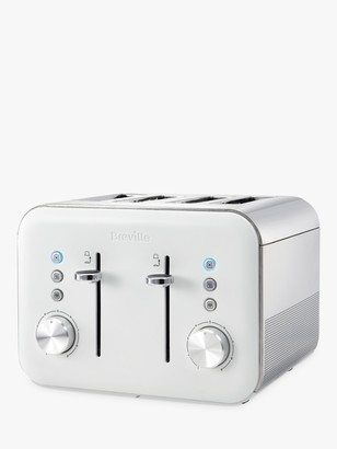 Breville VTT687 High Gloss 4-Slice Toaster, White