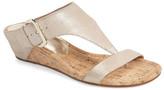 Donald J Pliner Doli Metallic Wedge Sandal