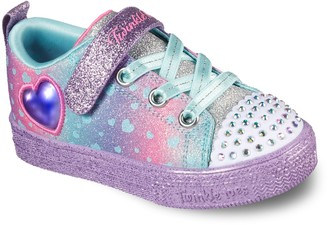 Skechers Twinkle Toes Shuffle Lites Toddler Girls' Light Up Shoes