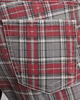 Current/Elliott Printed Jeans - Soho Zip Stiletto in Red Plaid