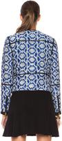 Diane von Furstenberg Maelee Poly-Blend Jacket in Blue Diamond