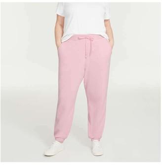 Joe Fresh Women's Terry Joggers, Light Pink (Size 1X)