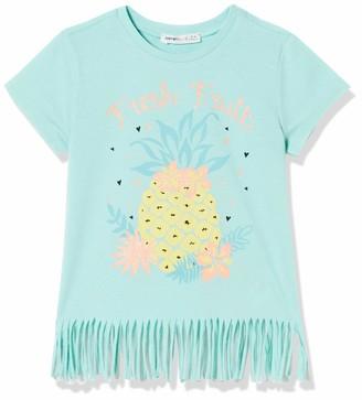 Koton Girl's Fransen T-Shirt mit Ananas