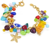Antica Murrina Veneziana Marilena - Murano Glass Marine Gold Plated Bracelet