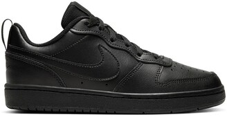 Nike Kids Court Borough Low 2 Trainers in Leather
