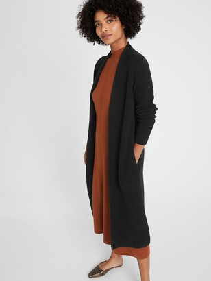 Banana Republic Birdseye Duster Coatigan
