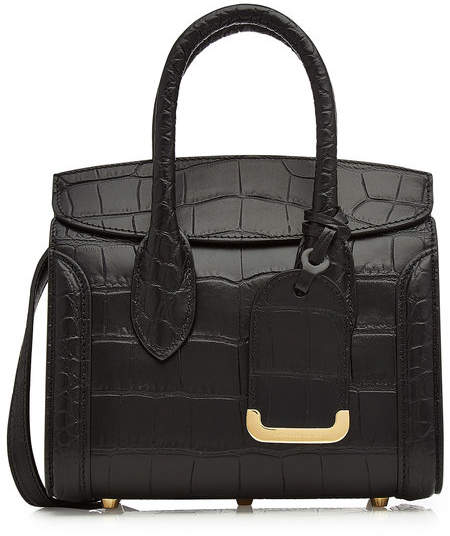 Alexander McQueen Mini Heroine 21 Leather Shoulder Bag